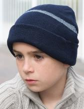 Junior Thinsulate™ Woolly Ski Hat with Reflective Band